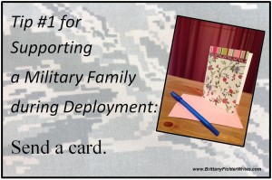 Tip 2 for Supporting a Military Family during Deployment - Send a Card